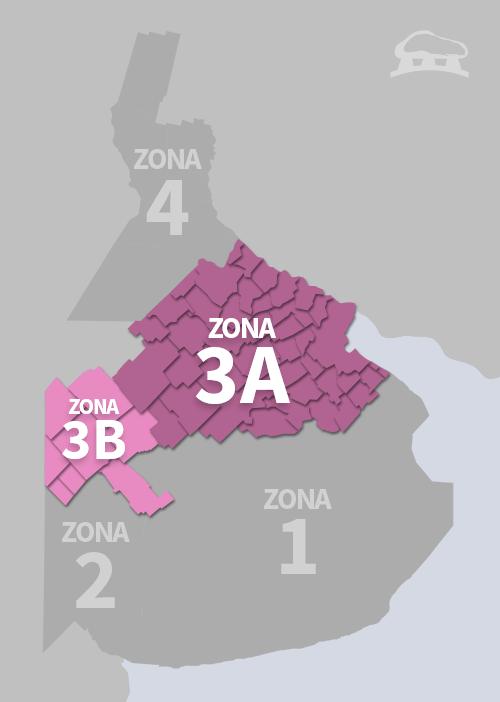 Cobertura Zona 3 y 3B
